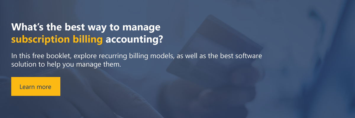 the best way to manage subscription billing accounting