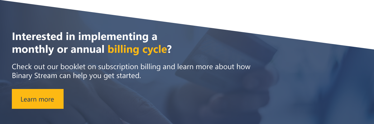 annual vs monthly billing cycles for recurring billing