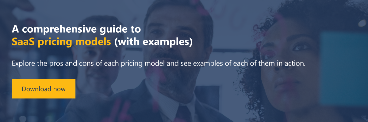 CTA: A comprehensive guide to SaaS pricing models (with examples)
