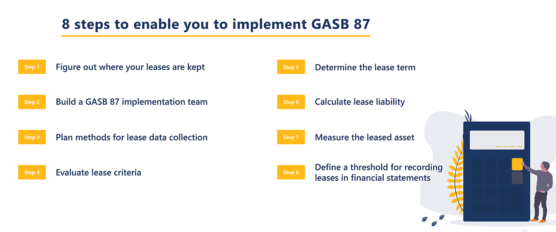 8 steps to enable you to implement GASB 87