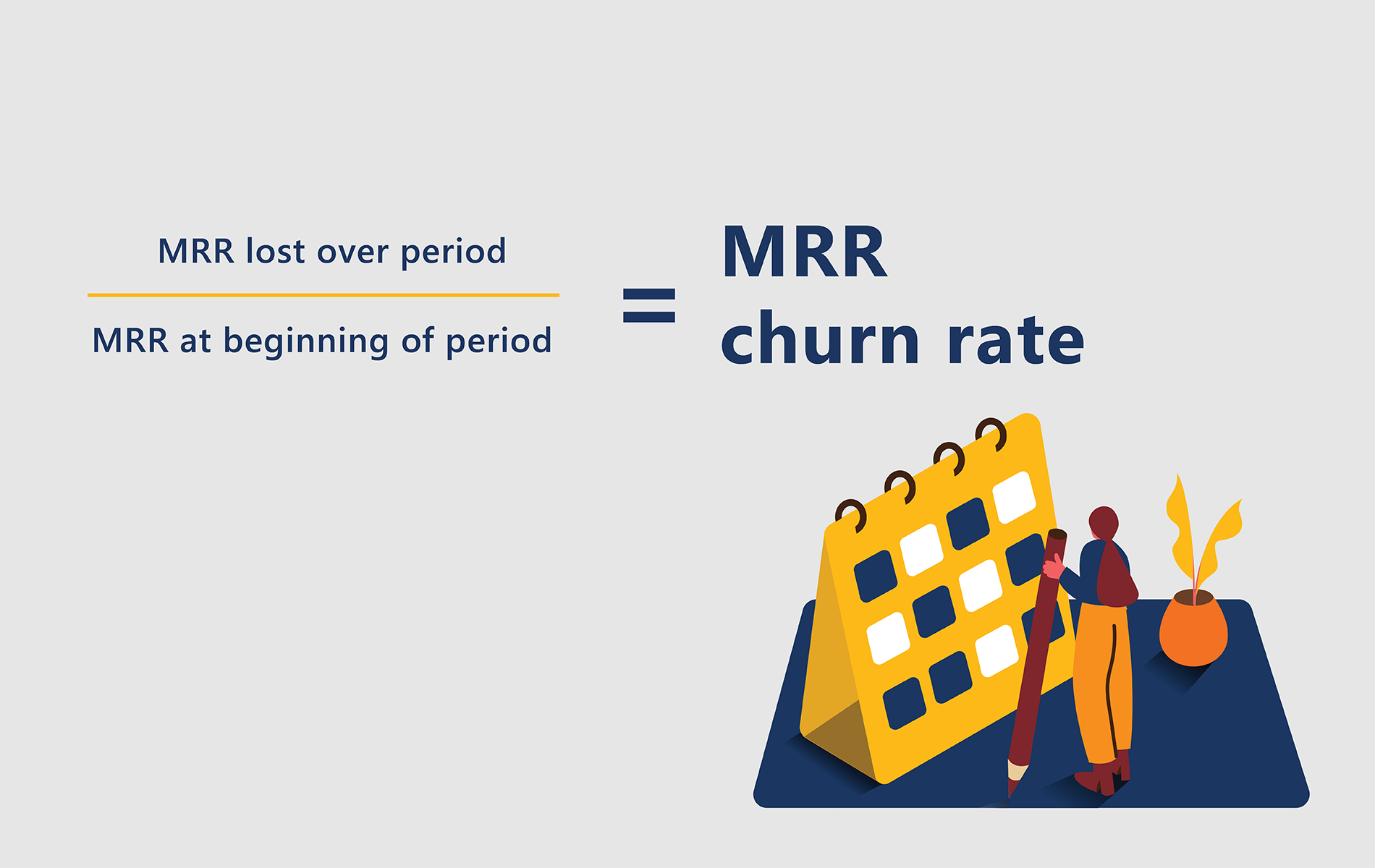 subscriber churn metrics: MRR churn rate